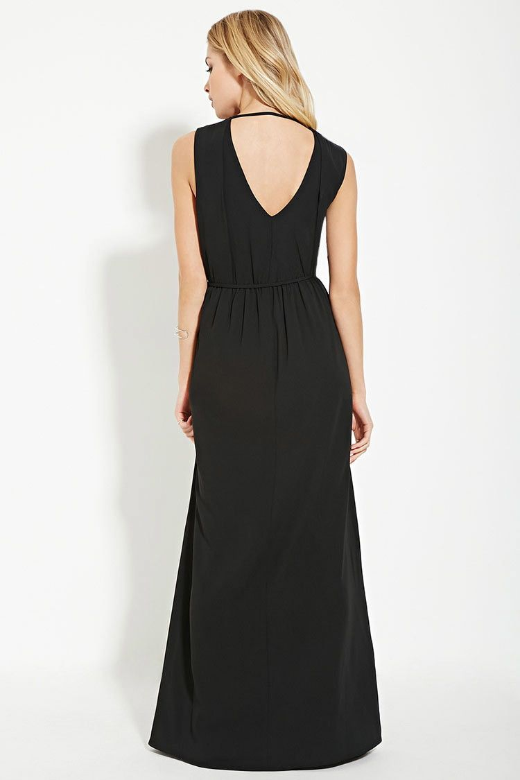 413868a6cf Forever 21 Contemporary - A woven maxi dress in a sleeveless design with  subtle pleats framing