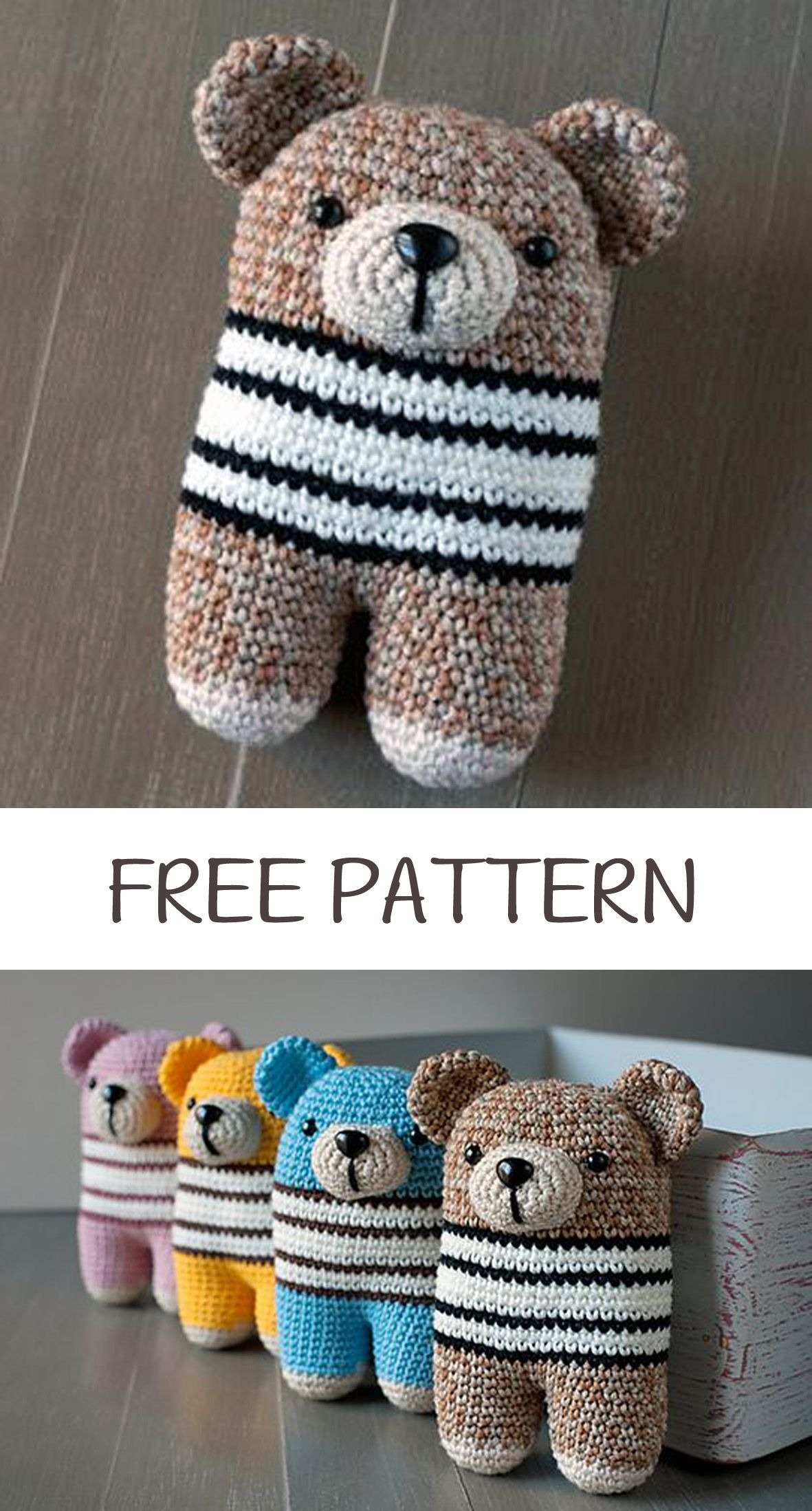 Crochet Bear #crochetbearpatterns