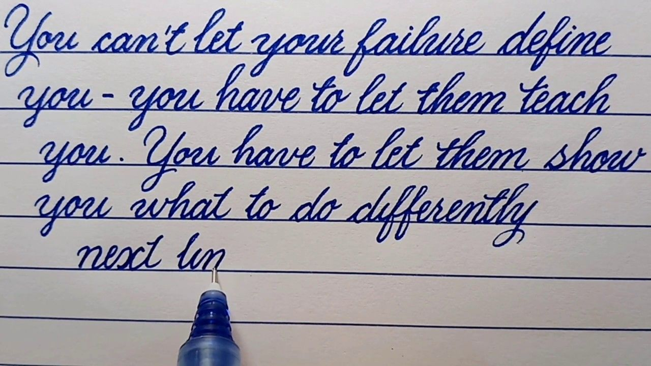 Writing In Cursive With A Pilot Pen Obama S Quotes Cursive Handwriting Handwriting Practice Youtube Cursive Words Cursive Alphabet Cursive Handwriting [ 720 x 1280 Pixel ]
