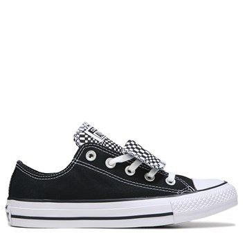 7f7195e14021 Converse Women s Chuck Taylor All Star Double Tongue Low Top Sneakers  (Black White Geo Dot)