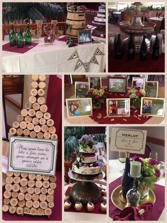 Wine themed wedding ideas wine themed bridal shower for Bridal shower kitchen tea ideas fashion