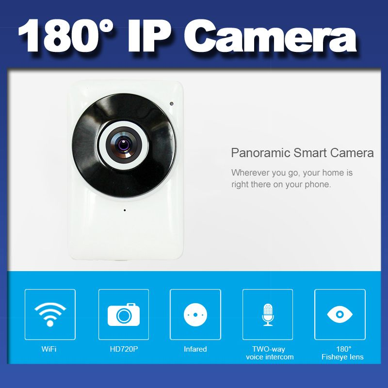 HD 720P Wifi IP Wireless Panoramic IR Mini Baby Monitor  Fisheye Lens Camera Pro