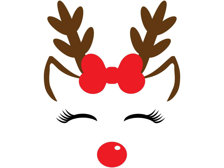 Winter Holiday Christmas Clip Art Girl Reindeer Happy Etsy Christmas Drawing Christmas Clipart Christmas Vinyl