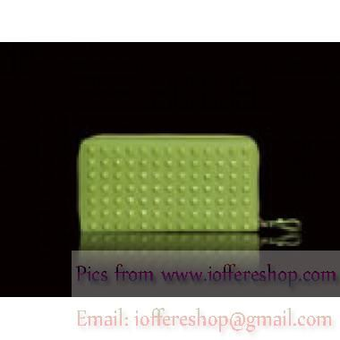 Valentino Garavani Continental Zip Around Wallet Apple Green