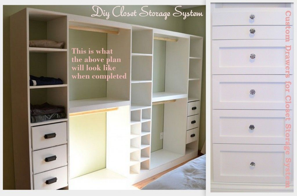 Diy Closet Storage System And Custom Drawers Bedroom