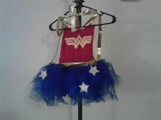 this was a wonder woman tutu that a friend made for Juliette, it came out so perfect!