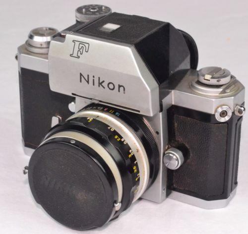 VINTAGE-NIKON-F-CAMERA-NIPPON-KOGAKU-NIKKOR-H-1-2-50MM