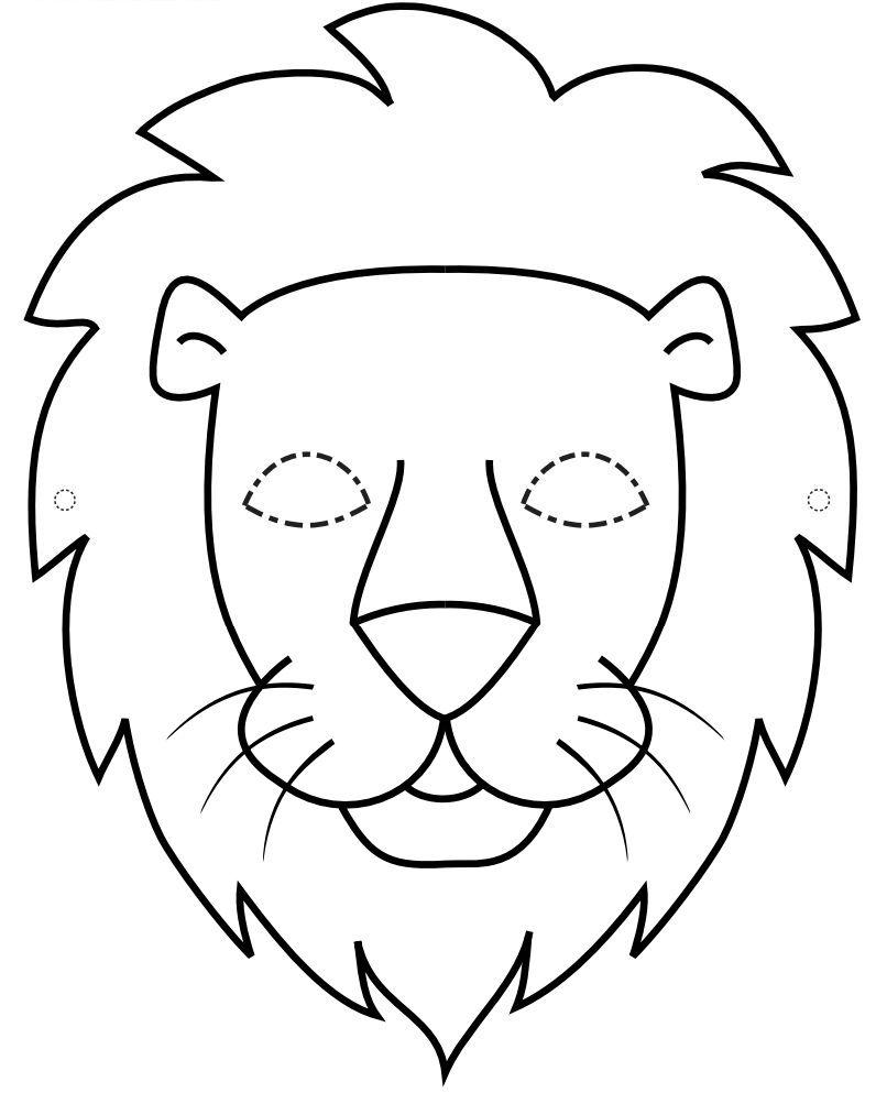 Plantilla de màscara de lleó | Mascaras carnaval | Pinterest ...