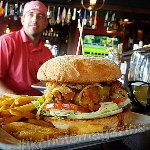 (BBB) Barbecue Bacon Burger with Football #theaulddubliner #nofilter #instagramtags #webstagram #l4l #like4me #like4like #like4tags #likeforme #like4follow #likeforlike #tbt #food #burgerjunkies #myfab5 #burgerlovers101 #music #foodporn #foodnvibes #tryitordiet #dailyfoodfeed #eatfamous #eat #burger #fitness #workout #cheese #healthy #fashion #marketing