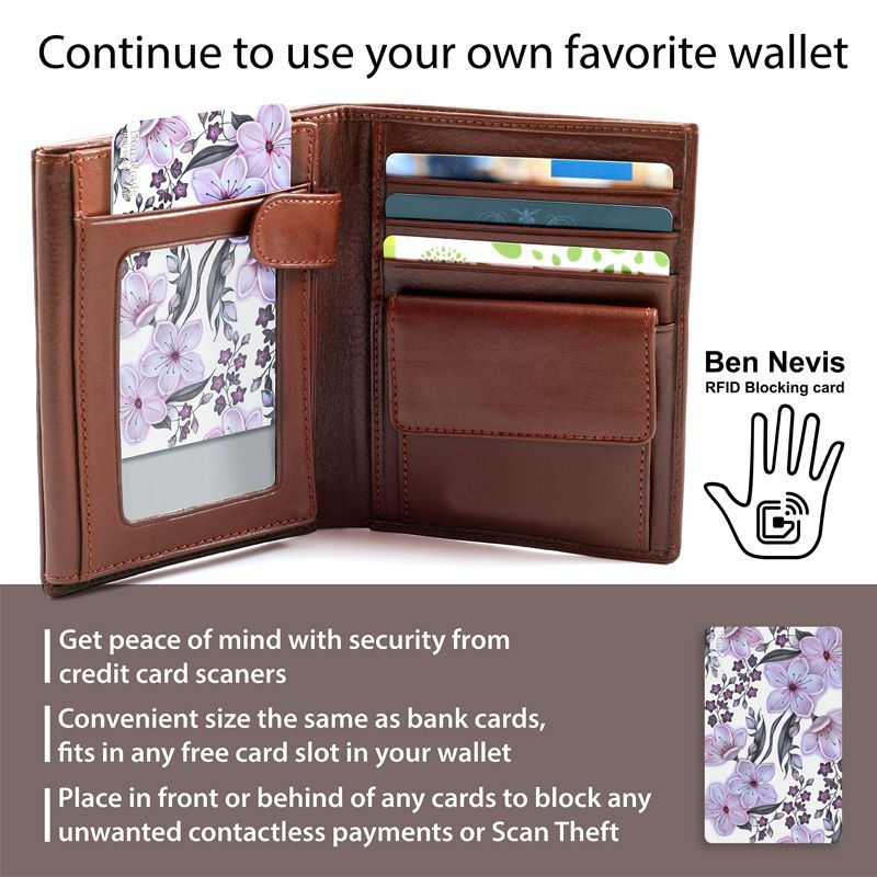 Details about rfid card women wallets blocking security