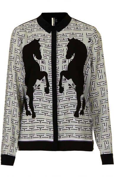 Horse Placement Print Shirt - Lyst  06f38e538