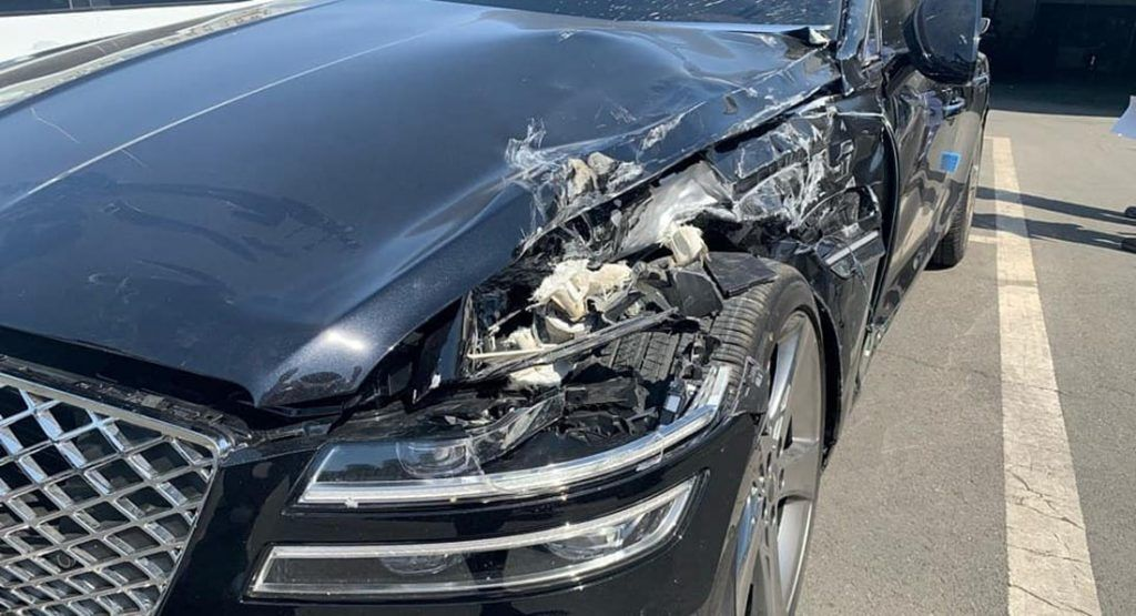 This Brand New Genesis G80 Crashed Just Minutes After