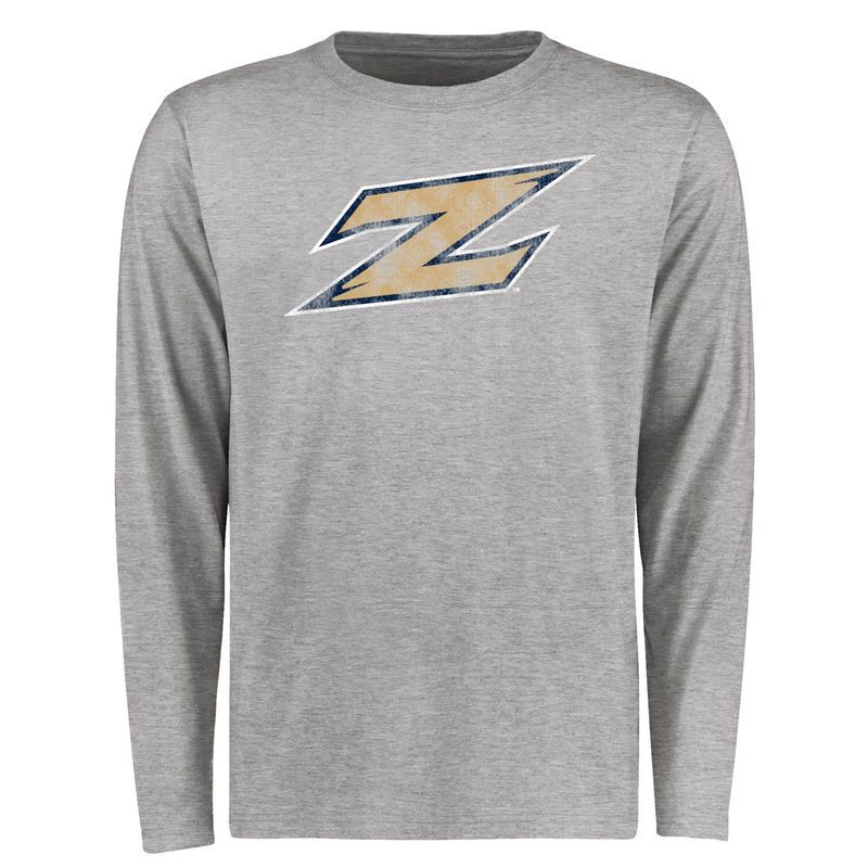 Akron Zips Big & Tall Classic Primary Long Sleeve T-Shirt - Ash