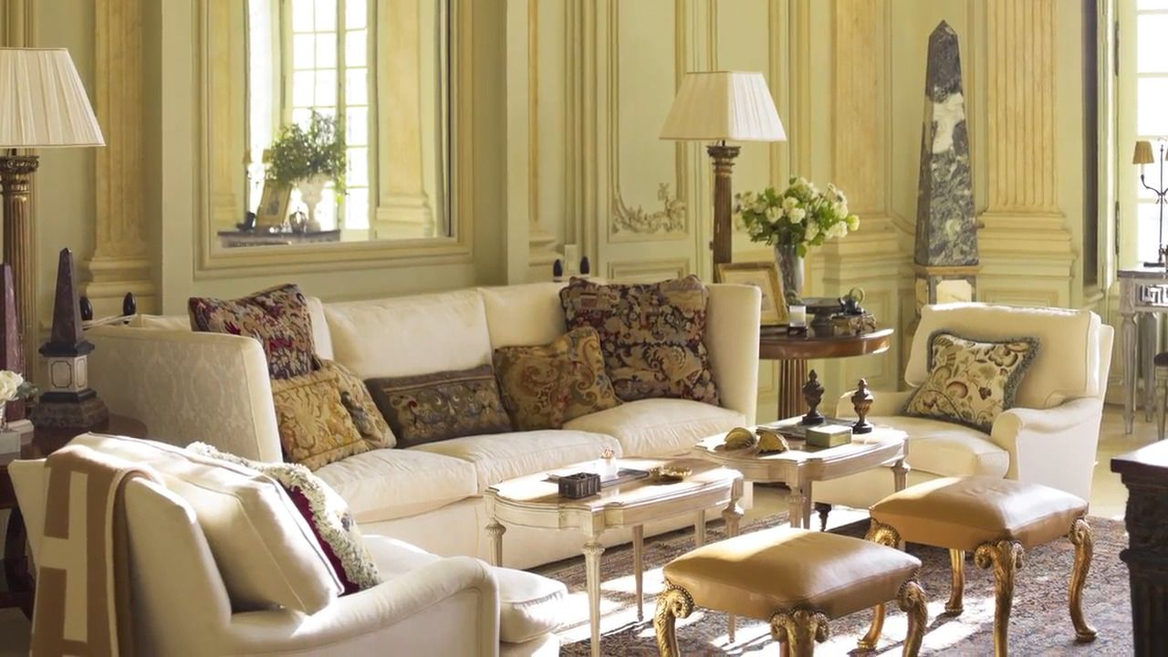More Obelisks Rightfully Placed Give Prestige To The Drawing Room Of Timothy Corrigan S Chateau De Grand Luce In France