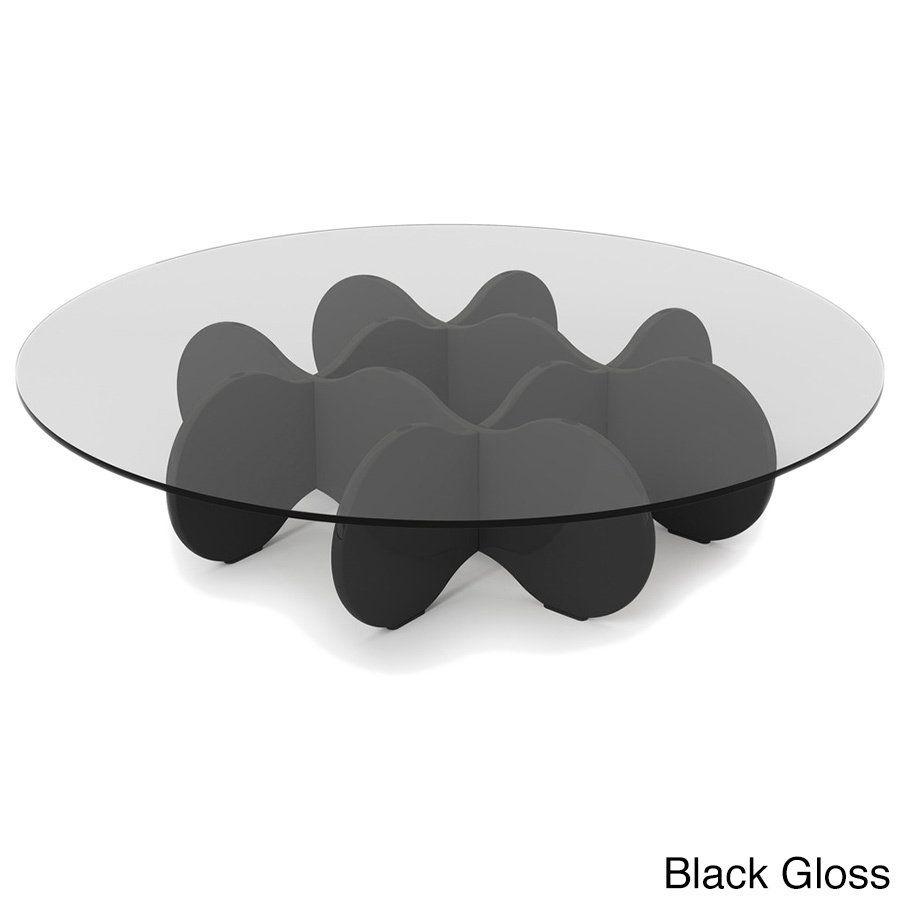 Shop Manhattan Comfort Waverly 28 Inch Round Glass Top Accent End