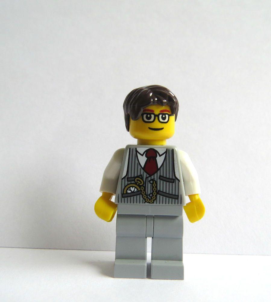 LEGO Groom Minifigure Grey Suit Glasses Brown Hair Best Man Cake ...