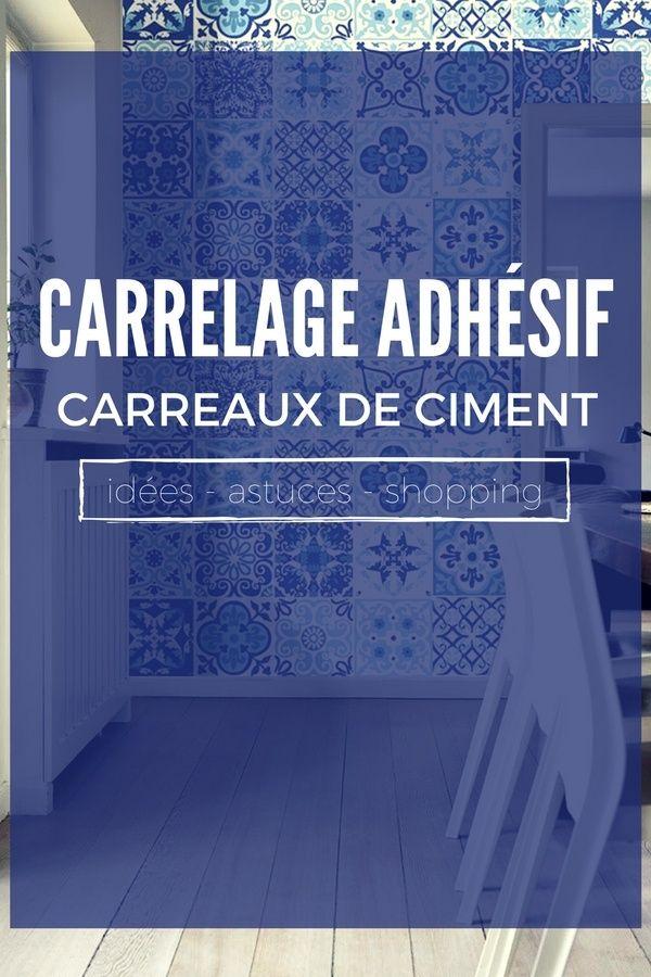 Le Carrelage Adhésif Carreaux de Ciment  Un Relooking Facile  Pas - Peindre Du Carrelage Mural Salle De Bain