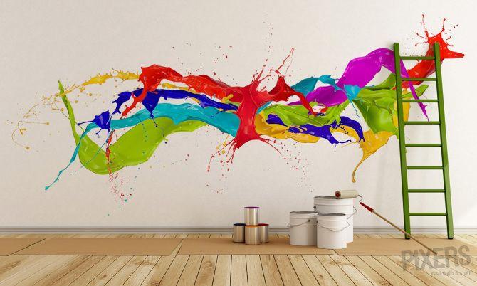 Wall Mural Color Splash Inspiration Wall Mural Interiors Gallery Pixersize Com Wall