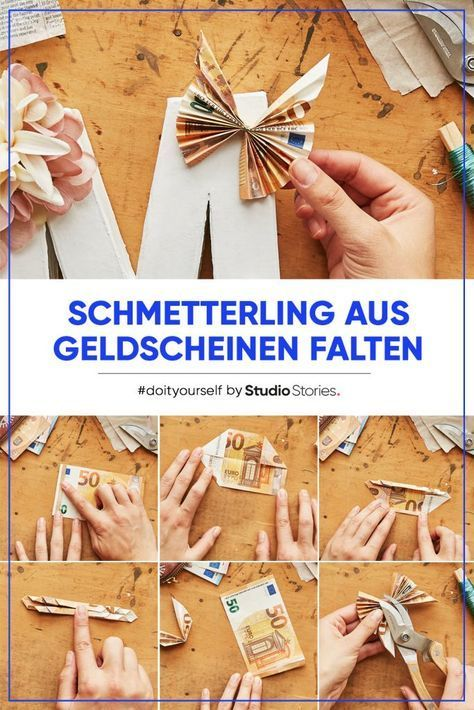 Photo of Origami-Schmetterling als Geldgeschenk. DIY-Anleitung.