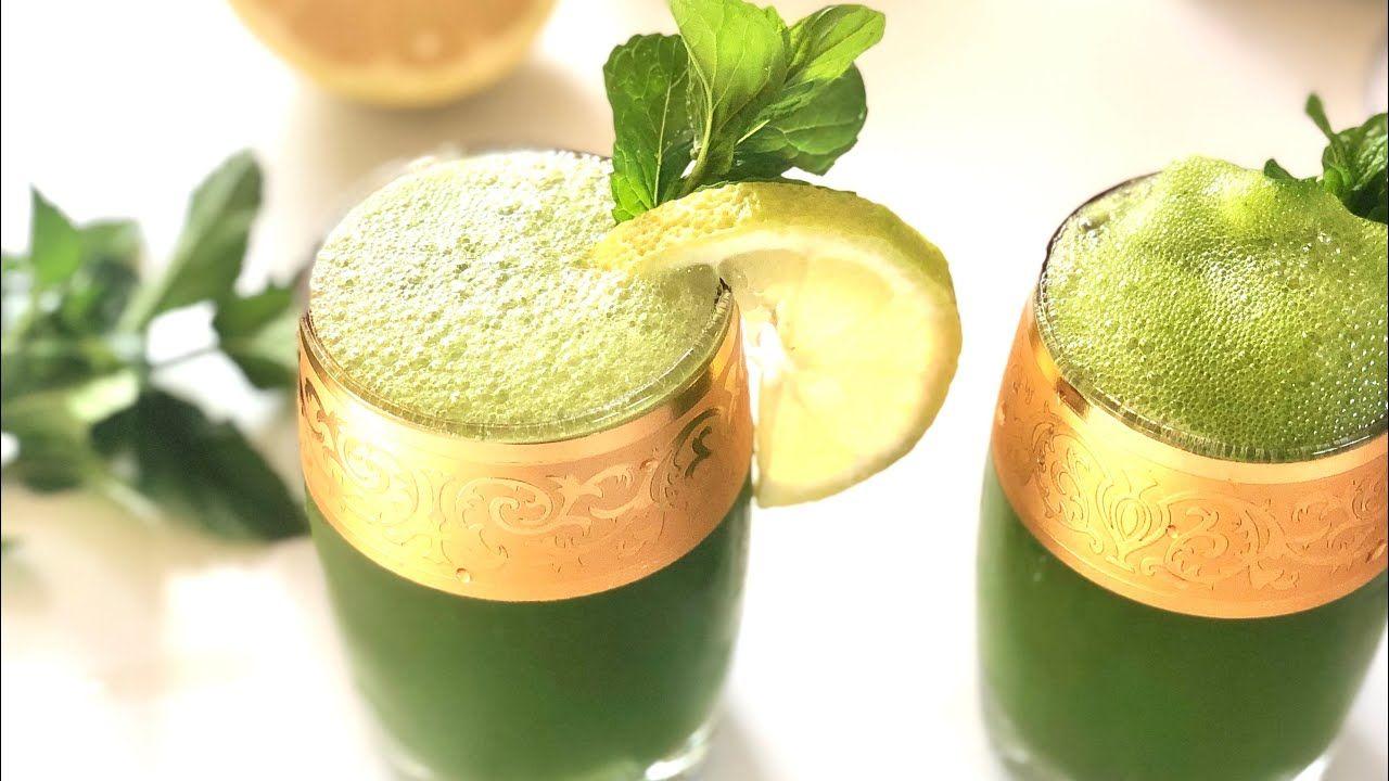 عصير صيفي بارد ومنعش بالليمون والنعناع Lemon Juice Mint Lemonade Recipe Youtube Moscow Mule Mugs Tableware Glassware