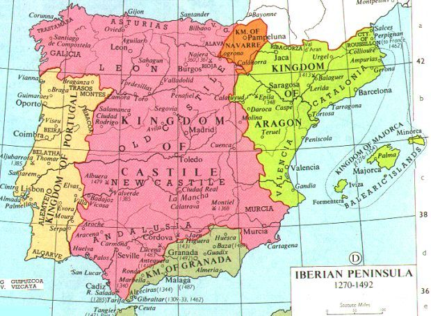 Map Of Spain 8th Century.Iberians Had Inhabited A Frontier Zone Where Differing