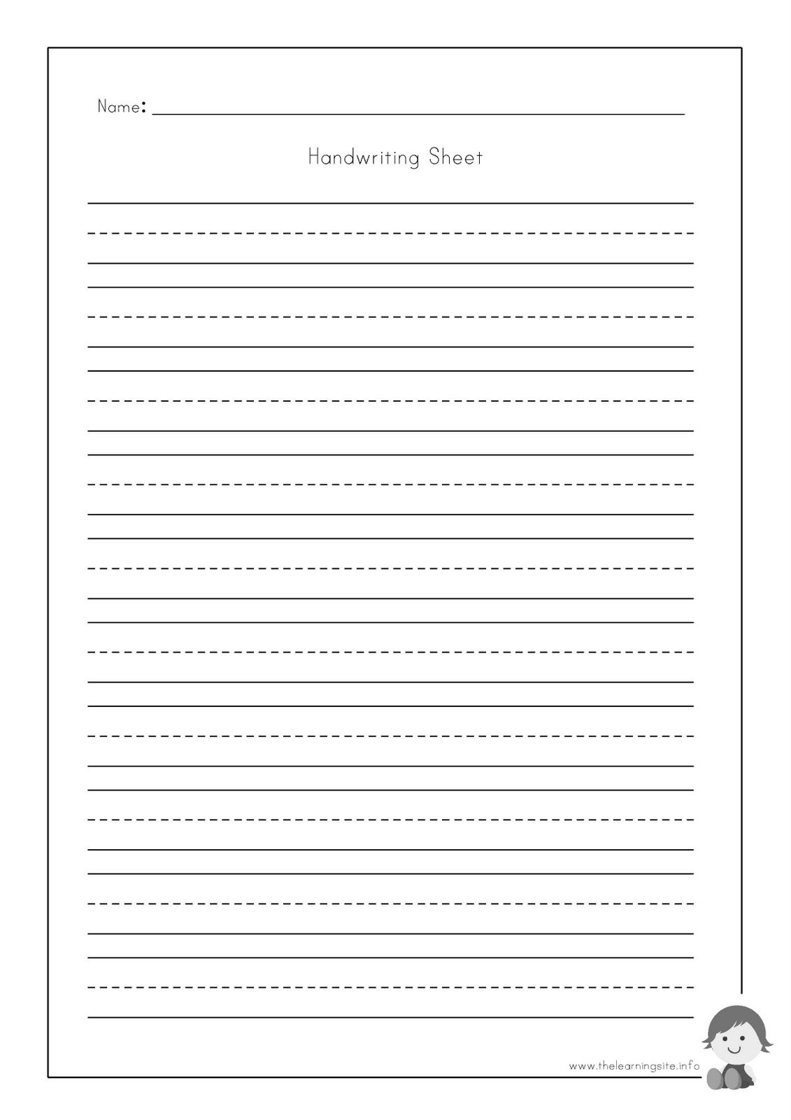 Handwriting Sheet Bw 1 1 131 1 600 Pixels