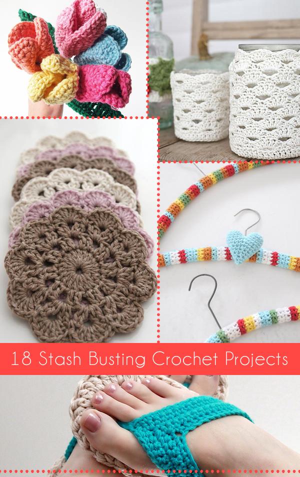 18 Stash Busting Crochet Projects   Tejido, Ganchillo y Varios