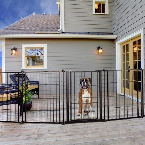 Outdoor Super Wide Pet Pen And Gate, Outdoor Pet Gate With Door