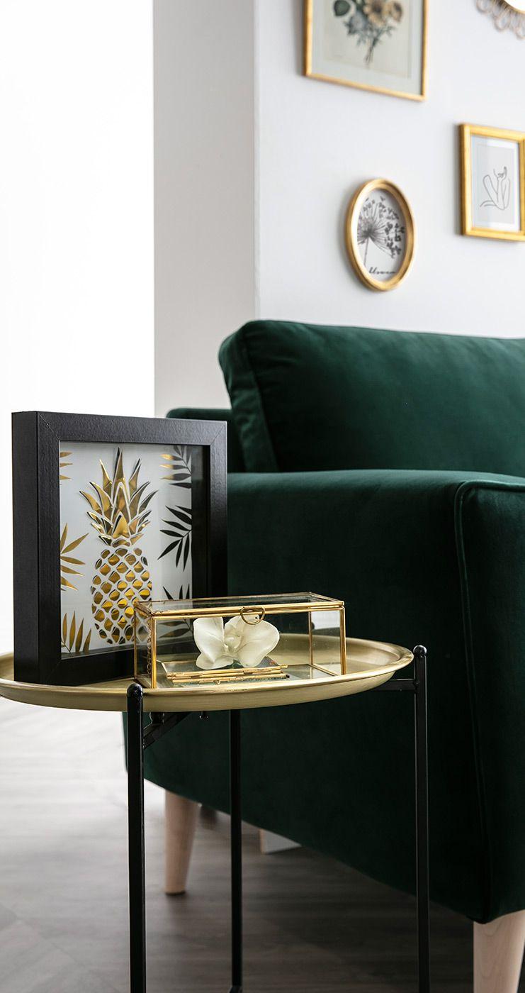 Table D Appoint Design Ronde Metal Dore Luz Miliboo En 2020 Table D Appoint Design Table Basse Chambre Design