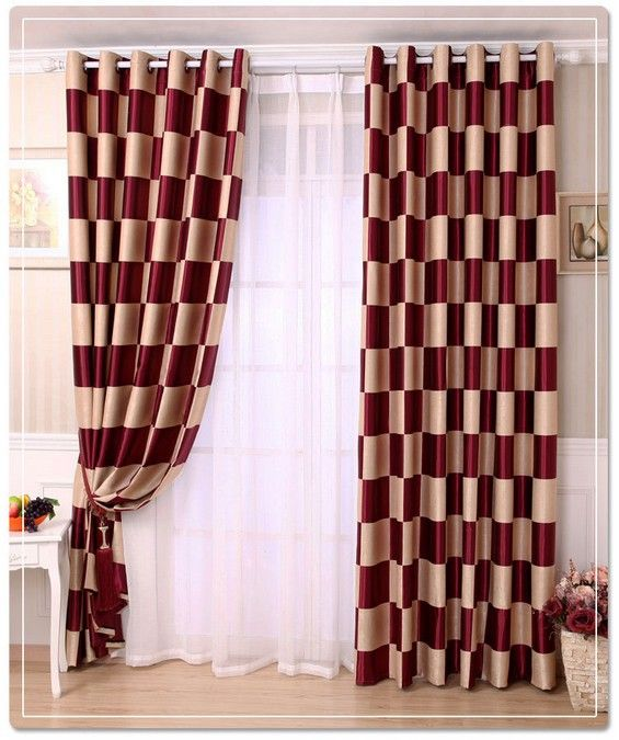 Burgundy Curtains Living Room 36HZLKQ5