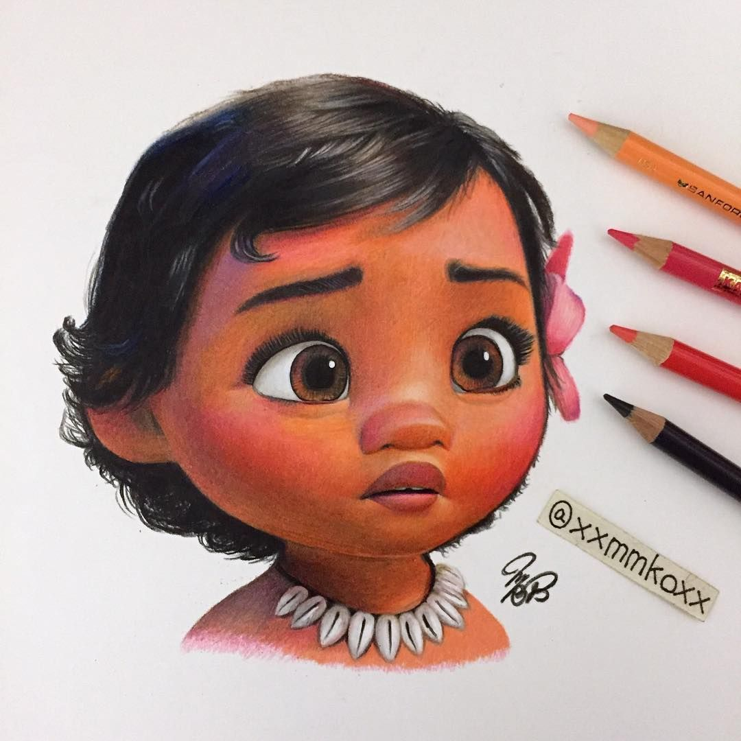 Momoko F On Instagram Colored Pencil Drawing Of Moana Disney Disneyart Disney Art Drawings Pencil Drawings Color Pencil Art