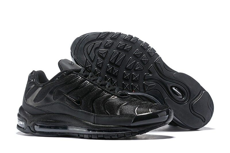 Discount Nike Air Max 97 Plus AH8143-001 All Black Men s Cushioning Running  Shoes In Stock d5d324f7af32
