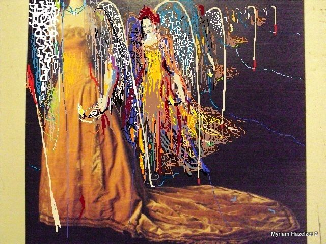 Myriam hazelzet to the ball schilderij in acrylverf gemengde
