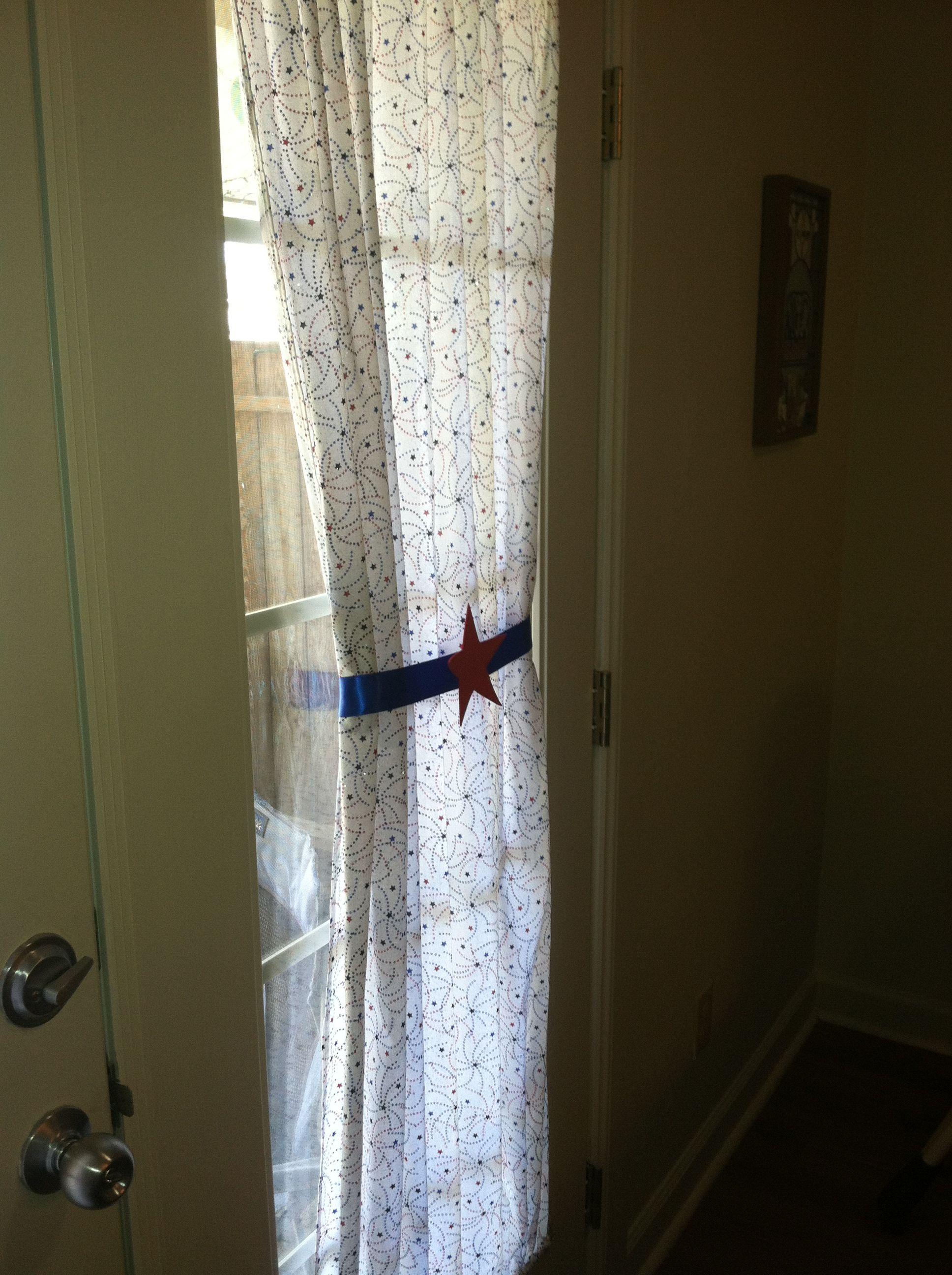 Americana Curtains I Made Curtains Closet Doors Home Decor