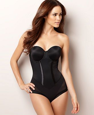 db6e05646c Women s Firm Tummy-Control Bodybriefer Easy Up Strapless Body Shaper ...