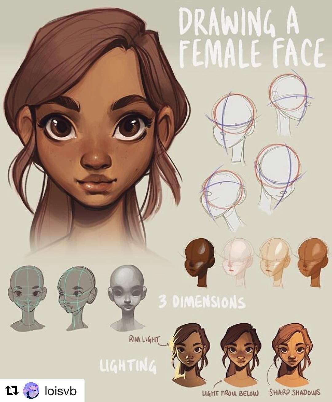 #wooolikes @loisvb Amazing Loish and her tutorials Since I posted a mini-tutorial on drawing a head yesterday I figured I'd let you guys know about this tutorial I made last year! It's about how to draw a (female) face and is much more in-depth than yesterday's mini-tut. Link is in my bio hope you find it useful! #tutorial #headdrawing #illustration #illustrationartists #artistsoninstagram #digitalartists #instalike #wooomic #girl #regram #likes #repost #repostapp #learning #learningtodraw…