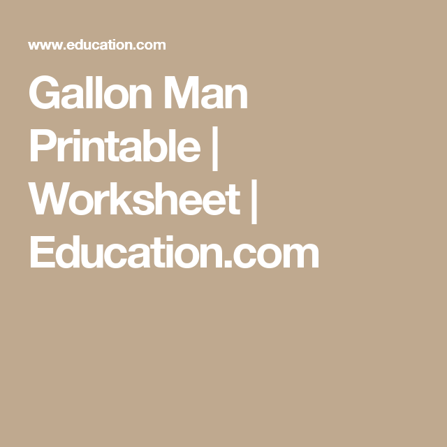Gallon Man Printable
