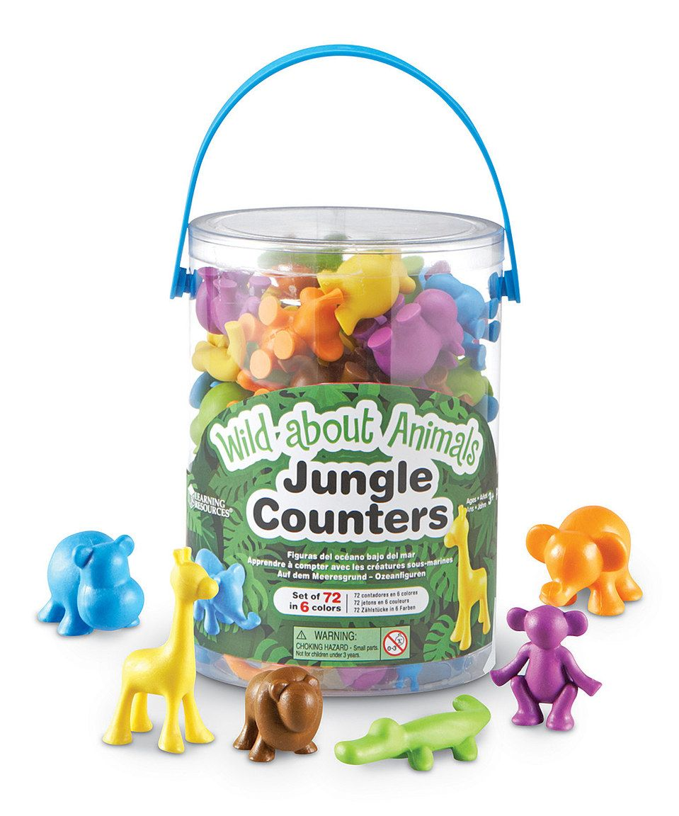 Another great find on #zulily! Wild About Animals Jungle Counter Set by Learning Resources #zulilyfinds
