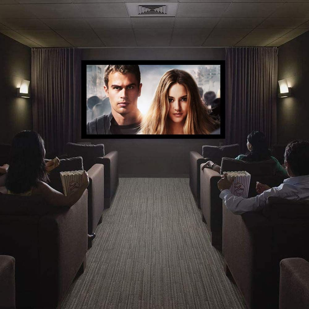 Amazon Com Showmaven 120 Inch Fixed Frame Projector Screen Diagonal 16 9 Active 3d 4k Ultra Hd Projector Screen Best Projector Projector Screen Home Theater