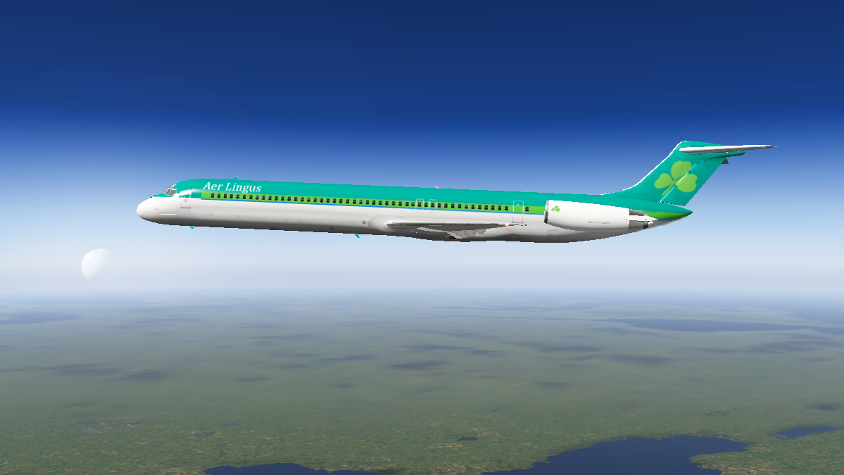 XPFW MD-82 Aer Lingus (Fictional) - Aircraft Skins