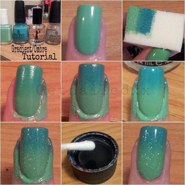 Green Ombre Nails-DIY | Sole Tutorials | Beauty | Pinterest | Ombre ...