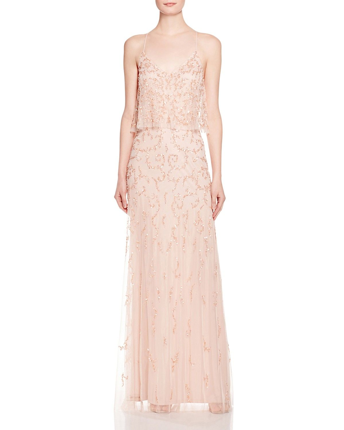 Aidan Mattox Embellished Bodice Overlay Gown - Bloomingdale\'s ...