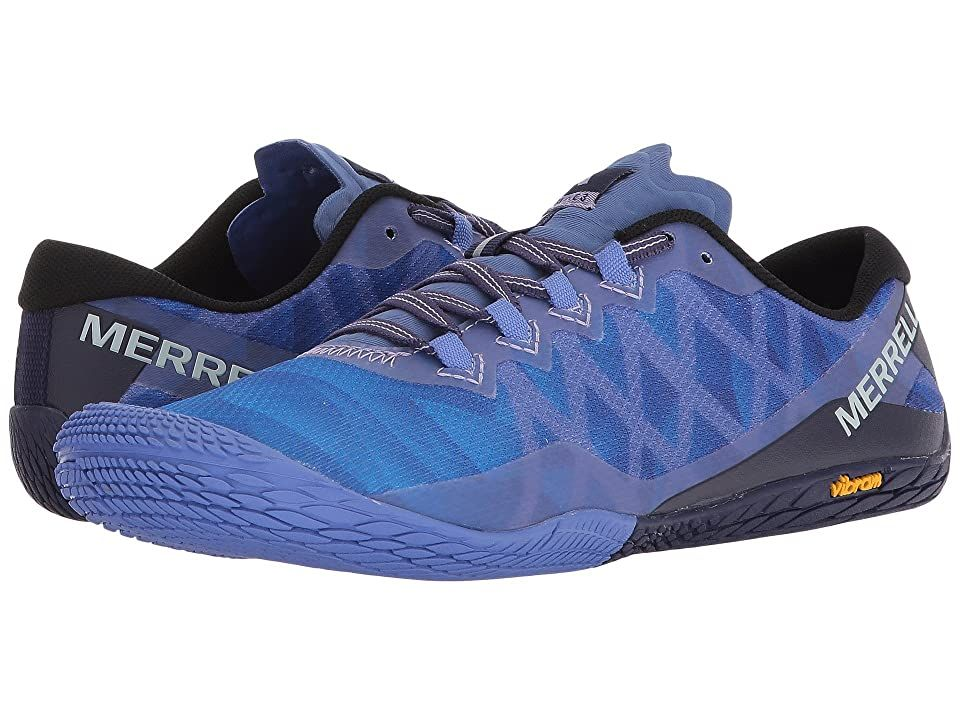 Merrell Vapor Glove 3 Baja Blue Women S Shoes Keep Your Feet Tucked In And Low To The Groun In 2020 Cushioned Running Shoes Minimalist Shoes Zero Drop Running Shoes