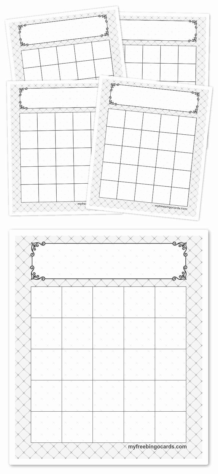Blank Uno Card Template In 2020 Free Printable Bingo Cards