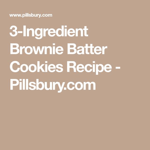 3-Ingredient Brownie Batter Cookies Recipe - Pillsbury.com