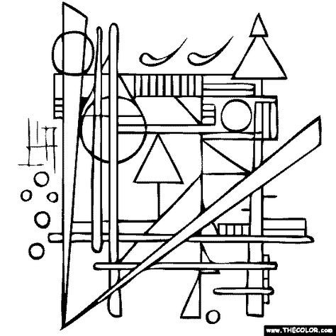 Wassily Kandinsky Compositions Coloring Page Coloring Pages