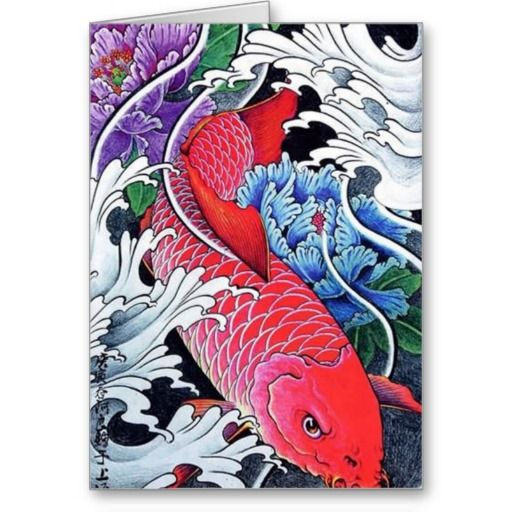 Japanese koi fish paintings japanese red koi fish tattoo for Koi japanese art