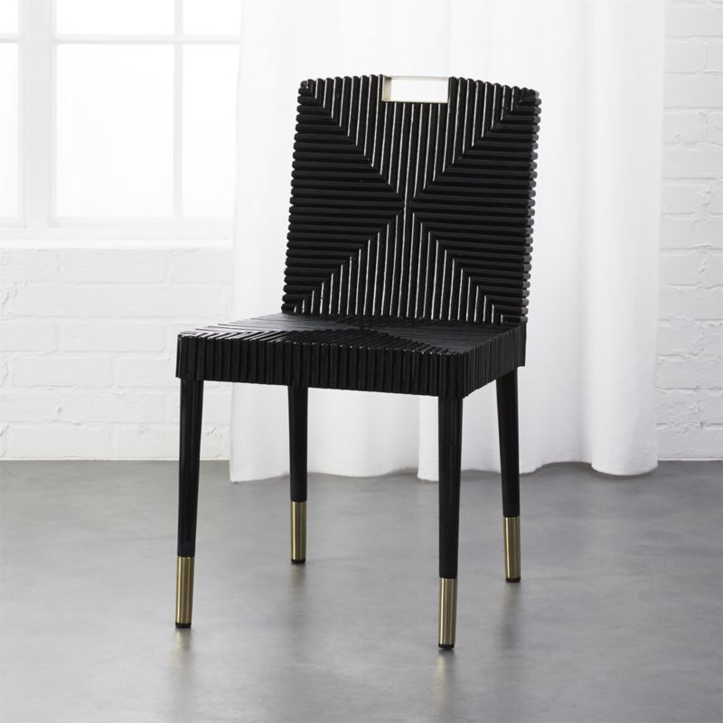 Shop Rattan And Brass Dining Chair Traditional Dining