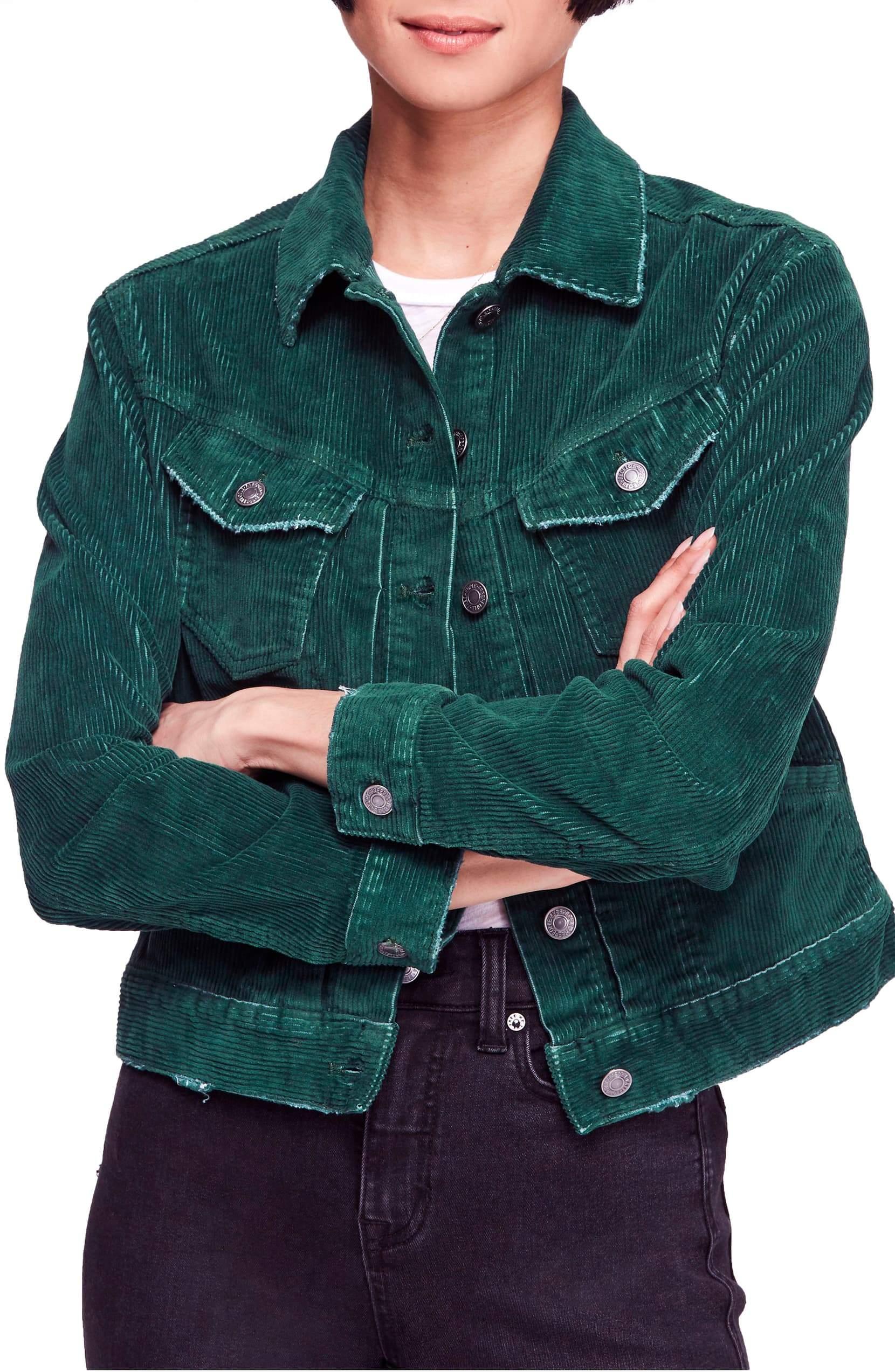 Free people nelson studded corduroy jacket wilderness