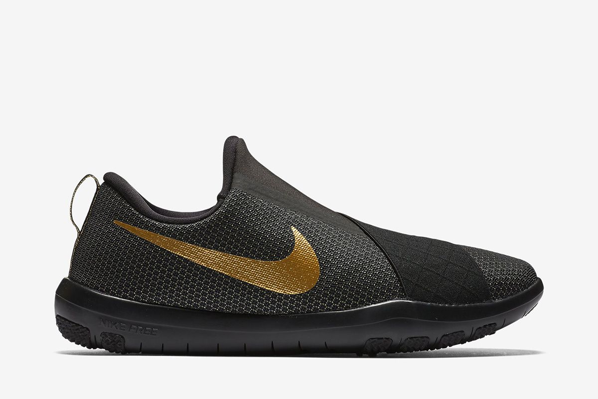 06446c1626de ... cheap nike free connect womens training shoe black white metallic gold  gold nike trainers 7e4f3 0badd